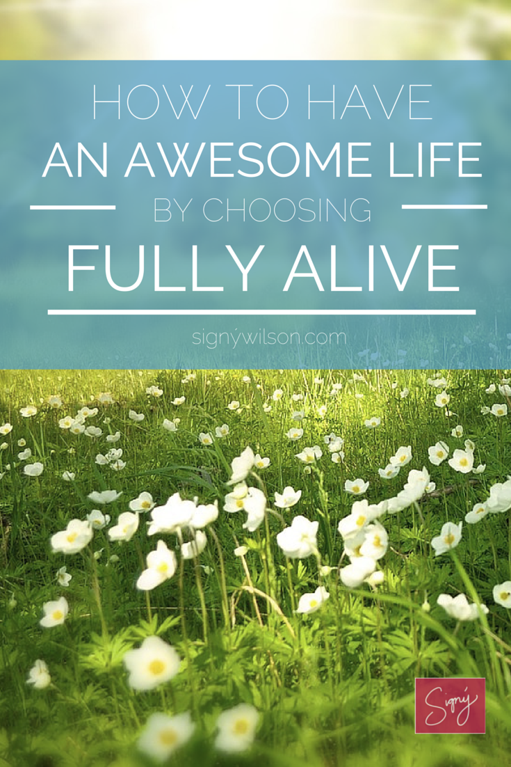 choose, fully alive, awesome, life, fulfilled, satisfied, self-help
