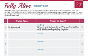 Fully Alive Bucket List Journal