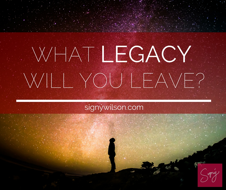 What Legacy will you lead?