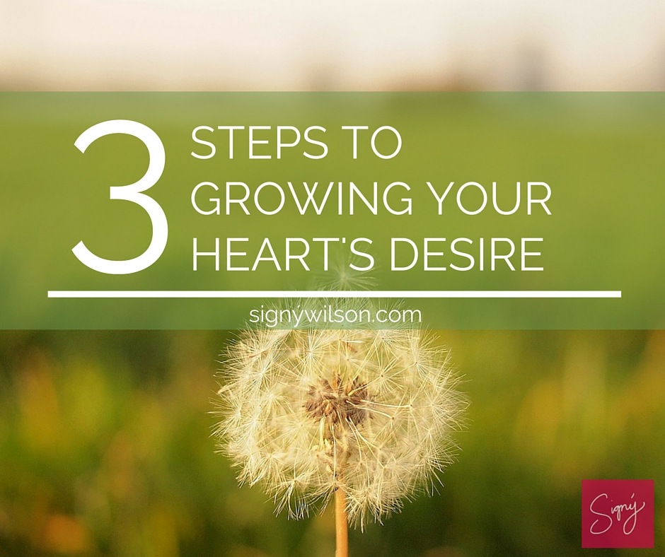 02-3 Steps to Growing Your Heart's Desire