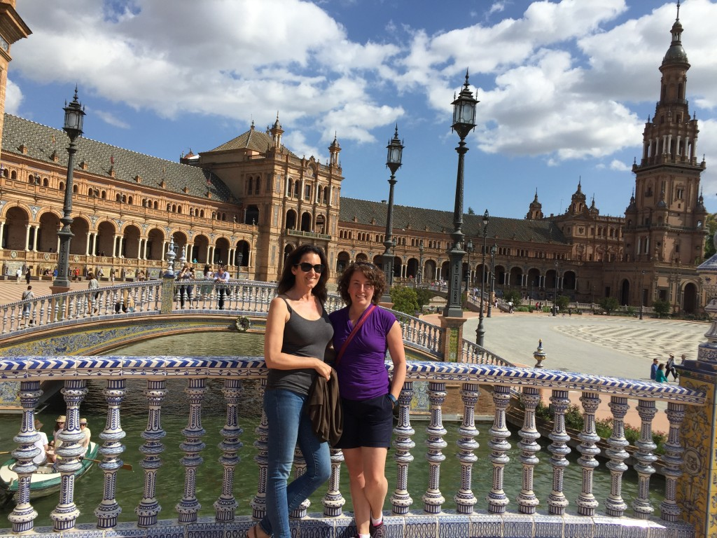 Joanne and I at the Spanish Plaza.