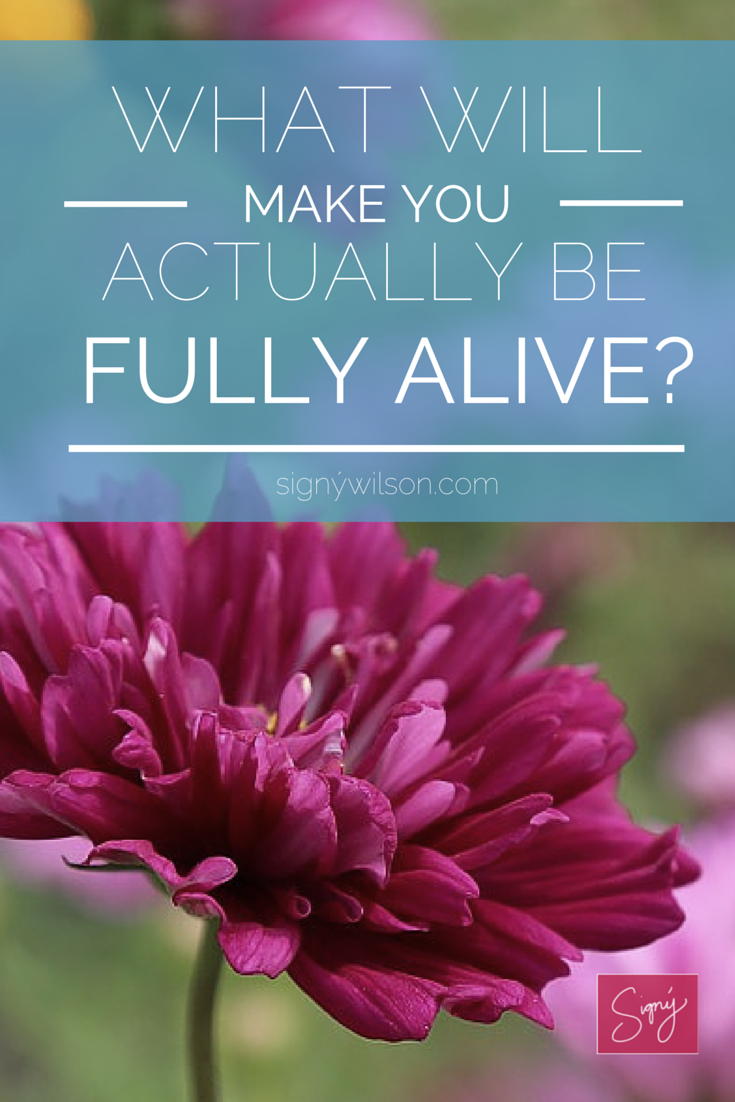 What Will Make You Actually BE Fully Alive-